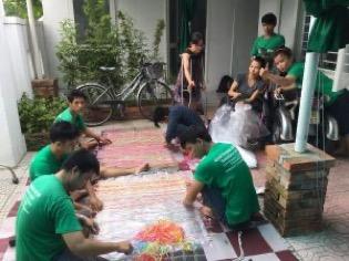 Les artisans handicapés du vietnam